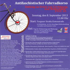 Fahrradkorso zum Tag der Erinnerung